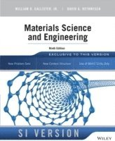 Materials Science and Engineering, 9th Edition, SI Version 1