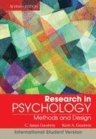 bokomslag Research In Psychology: Methods and Design, 7th Edition International Stude