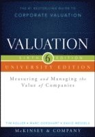 bokomslag Valuation University Edition: Measuring and Managing the Value of Companies