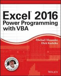 bokomslag Excel 2016 Power Programming with VBA