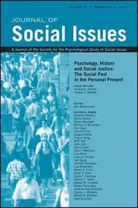 bokomslag Psychology, History and Social Justice