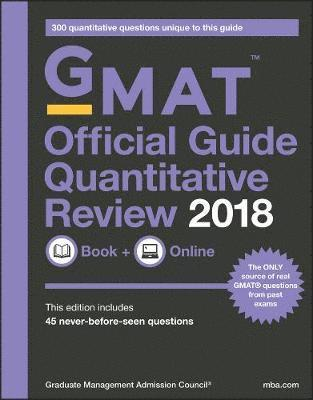bokomslag GMAT Official Guide 2018 Quantitative Review: Book + Online: Book + Online (with Online Question Bank and Exclusive Video)