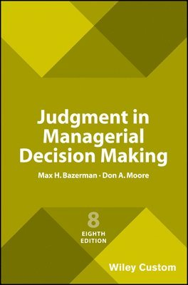 bokomslag Judgment in Managerial Decision Making