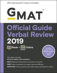 bokomslag GMAT Official Guide 2019 Verbal Review: Book + Online