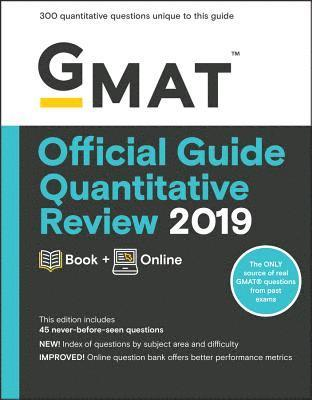 bokomslag GMAT Official Guide Quantitative Review 2019