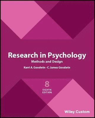 bokomslag Research in Psychology Methods and Design