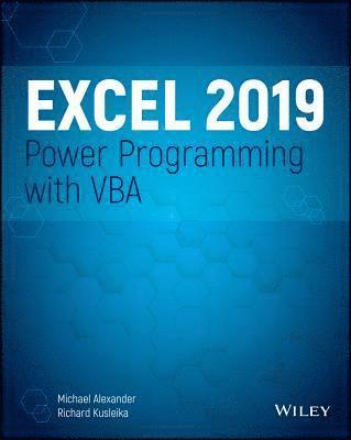 bokomslag Excel 2019 Power Programming with VBA