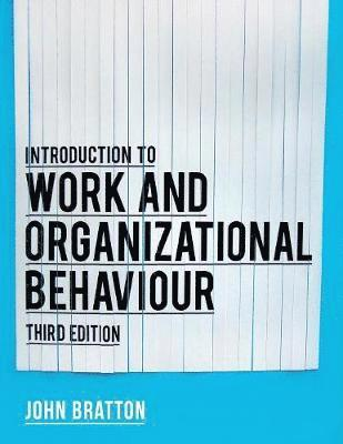 bokomslag Introduction to Work and Organizational Behaviour