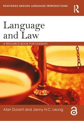 bokomslag Language and Law: A Resource Book for Students