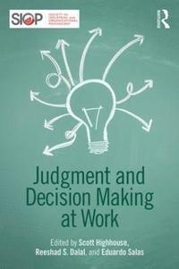 bokomslag Judgment and Decision Making at Work