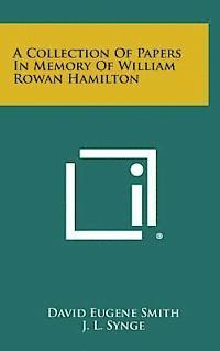 bokomslag A Collection of Papers in Memory of William Rowan Hamilton