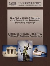bokomslag New York V. U S U.S. Supreme Court Transcript of Record with Supporting Pleadings