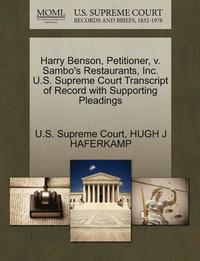 bokomslag Harry Benson, Petitioner, V. Sambo's Restaurants, Inc. U.S. Supreme Court Transcript of Record with Supporting Pleadings