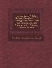 bokomslag Memorials of John McLeod Campbell, D.D.