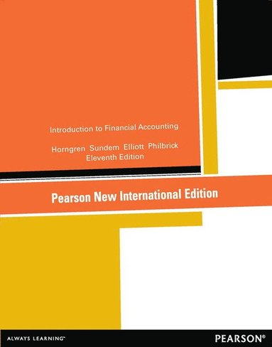 bokomslag Introduction to financial accounting:pearson new international edition