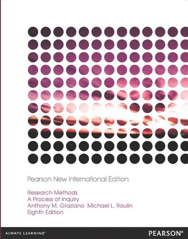bokomslag Research Methods: Pearson New International Edition: A Process of Inquiry