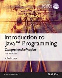 bokomslag Introduction to Java programming, Comprehensive Version, Global Edition