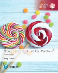 bokomslag Starting Out with Python plus Pearson MyLab Programming with Pearson eText, Global Edition