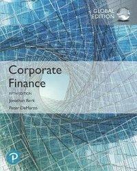 bokomslag Corporate Finance, Global Edition