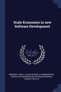 bokomslag Scale Economies in New Software Development