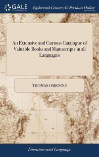 bokomslag An Extensive And Curious Catalogue Of Va