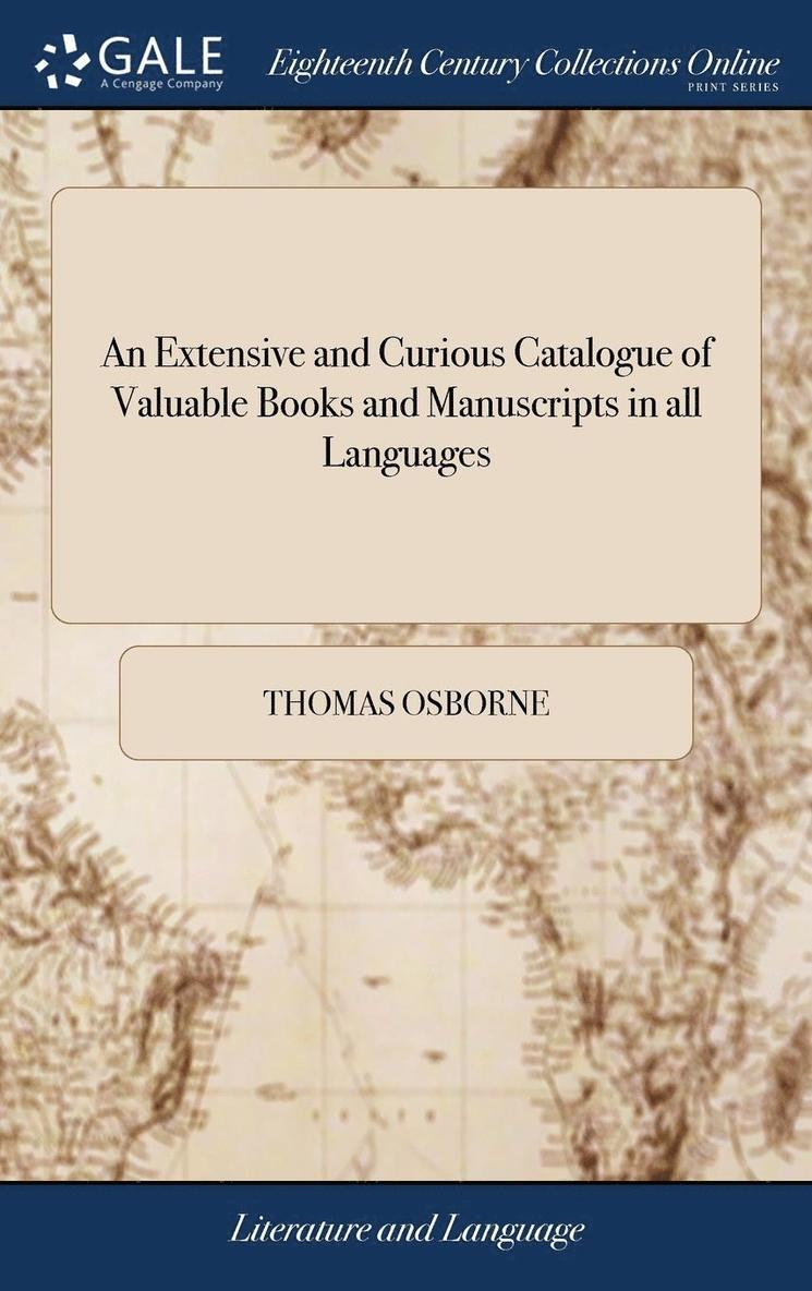 An Extensive And Curious Catalogue Of Va 1