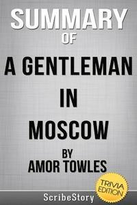 bokomslag Summary of A Gentleman in Moscow by Amor Towles