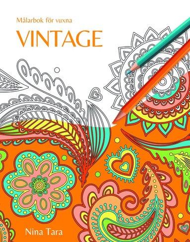 bokomslag Vintage : målarbok för vuxna
