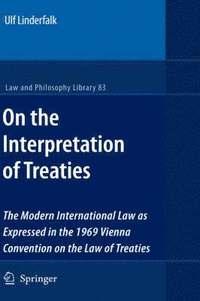 bokomslag On the Interpretation of Treaties