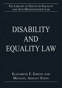 bokomslag Disability and Equality Law