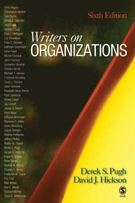 bokomslag Writers on Organizations