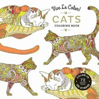 bokomslag Vive Le Color! Cats (Adult Coloring Book): Color In; De-stress (72 Tear-out Pages)