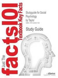 bokomslag Studyguide for Social Psychology by Taylor, ISBN 9780130990068
