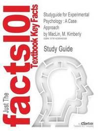 bokomslag Studyguide for Experimental Psychology