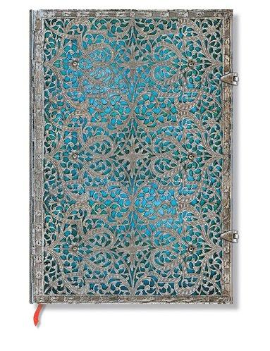Anteckningsbok Paperblanks Grande olinjerad - Maya Blue