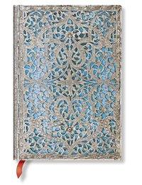 Anteckningsbok Paperblanks Midi linjerad - Maya Blue