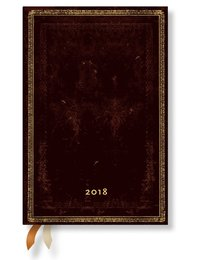 Kalender 2018 Paperblanks Black Maroccan Mini Vecka/Uppslag horisontal