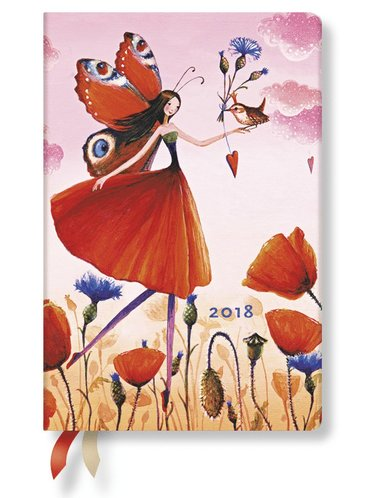 Kalender 2018 Paperblanks Poppy Field Mini Vecka/Uppslag horisontal