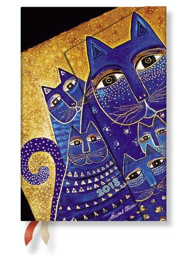 Kalender 2018 Paperblanks Mediterranean Cats Mini Vecka/Uppslag horisontal
