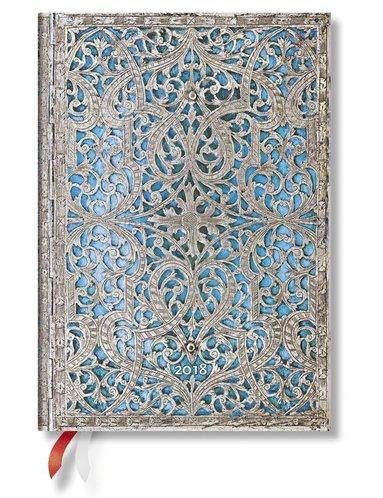 Kalender 2018 Paperblanks Maya Blue Midi Dag/Sida