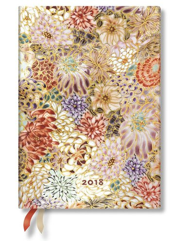 Kalender 2018 Paperblanks Kikka Midi Vecka/Uppslag horisontal