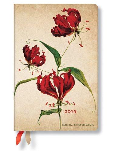 Kalender 2019 Paperblanks Mini Gloriosa Lily Dag/Sida
