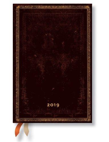 Kalender 2019 Paperblanks Mini Black Maroccan Vecka/Uppslag
