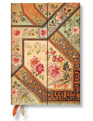 Kalender 2019 Paperblanks Mini Filingree Floral Ivory Vecka/Uppslag