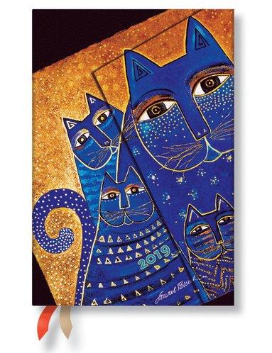 Kalender 2019 Paperblanks Mini Mediterranean Cats Vecka/Uppslag