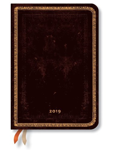 Kalender 2019 Paperblanks Midi Black Maroccan Vecka/Uppslag