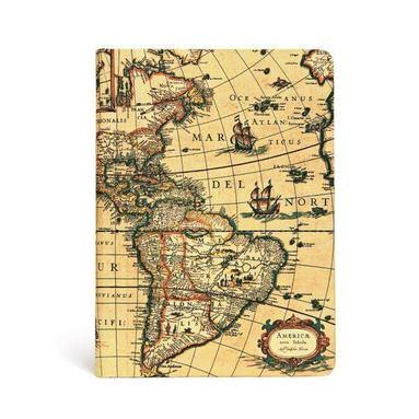 Anteckningsbok Paperblanks Midi olinjerad - Western Hemisphere