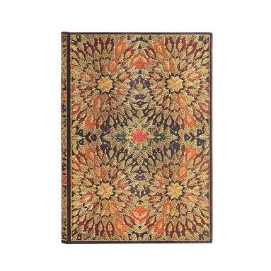 Anteckningsbok Paperblanks Midi linjerad - Fire Flowers