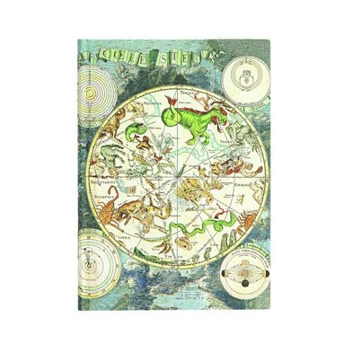 Anteckningsbok Paperblanks Flexi Midi linjerad - Celestial Planisphere 1