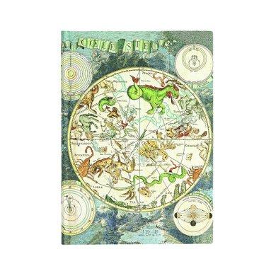 Anteckningsbok Paperblanks Flexi Midi linjerad - Celestial Planisphere